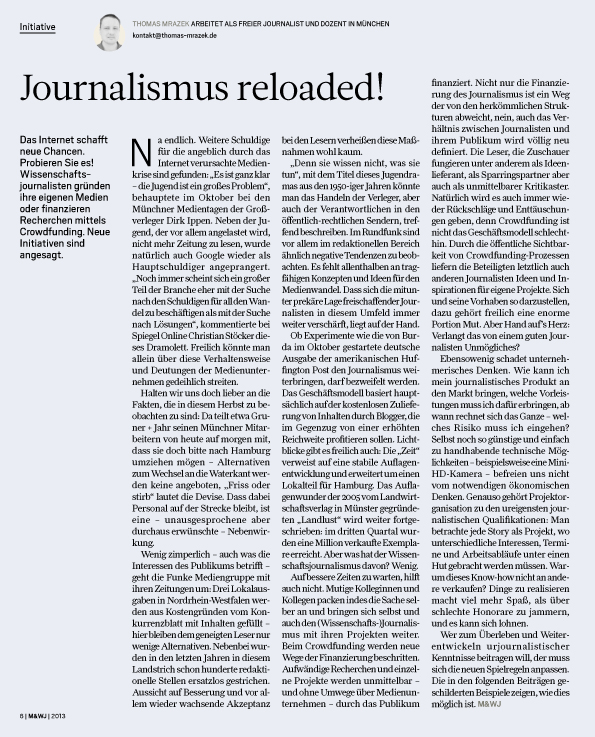 Journalismus reloaded
